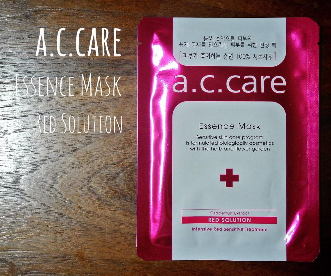 【韓国コスメ】a.c.care エッセンスマスク レッドソリューション
