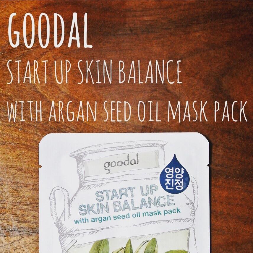 【韓国コスメ】goodal アルガンオイル配合のシートマスクで鎮静&栄養チャージ♪
