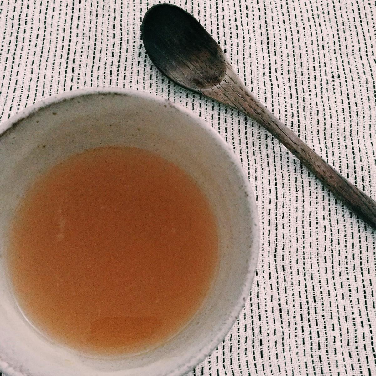 酵素スープで満たされる