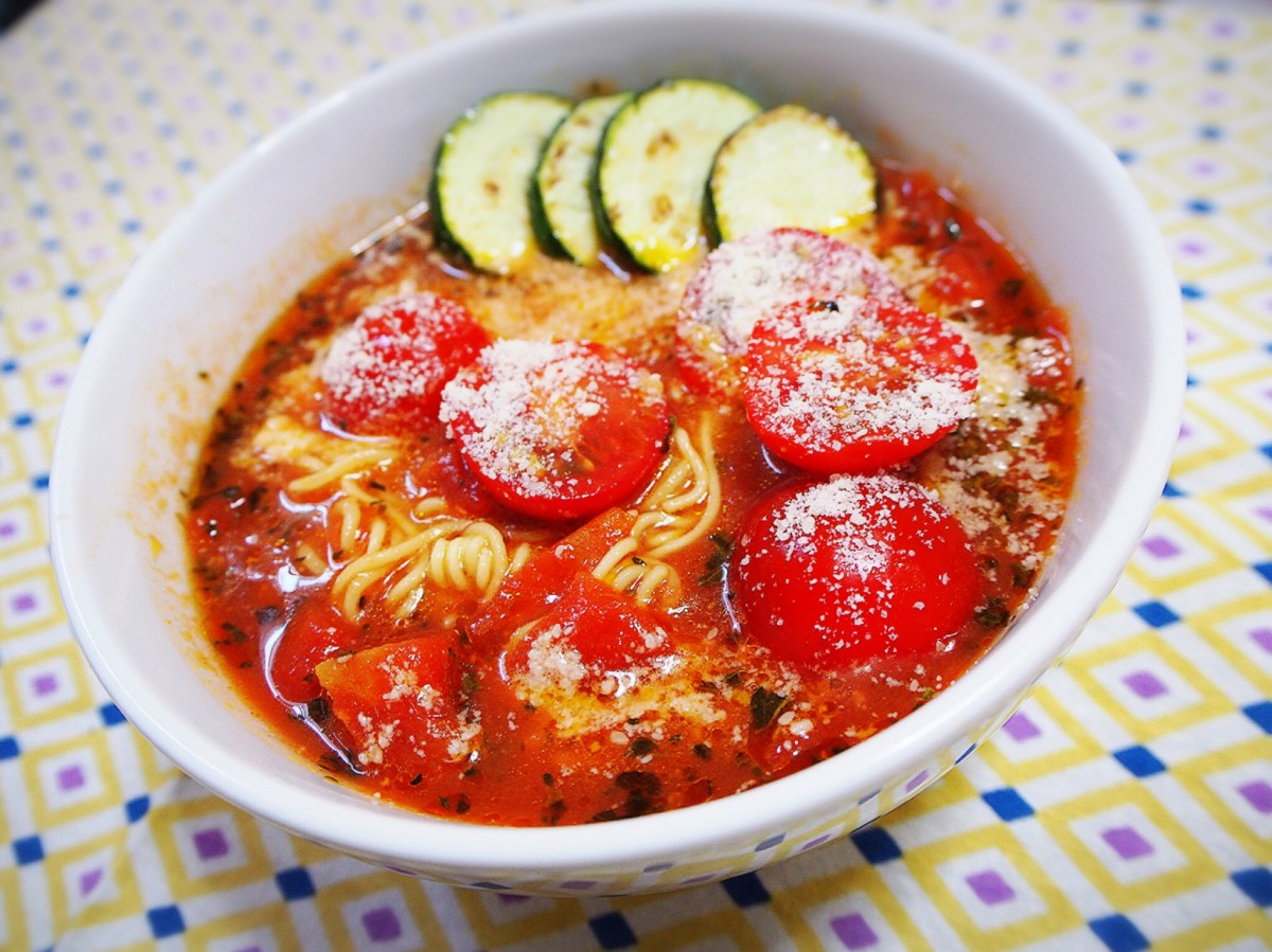 夏の日常焼けには・・リコピンたっぷりトマト麺!