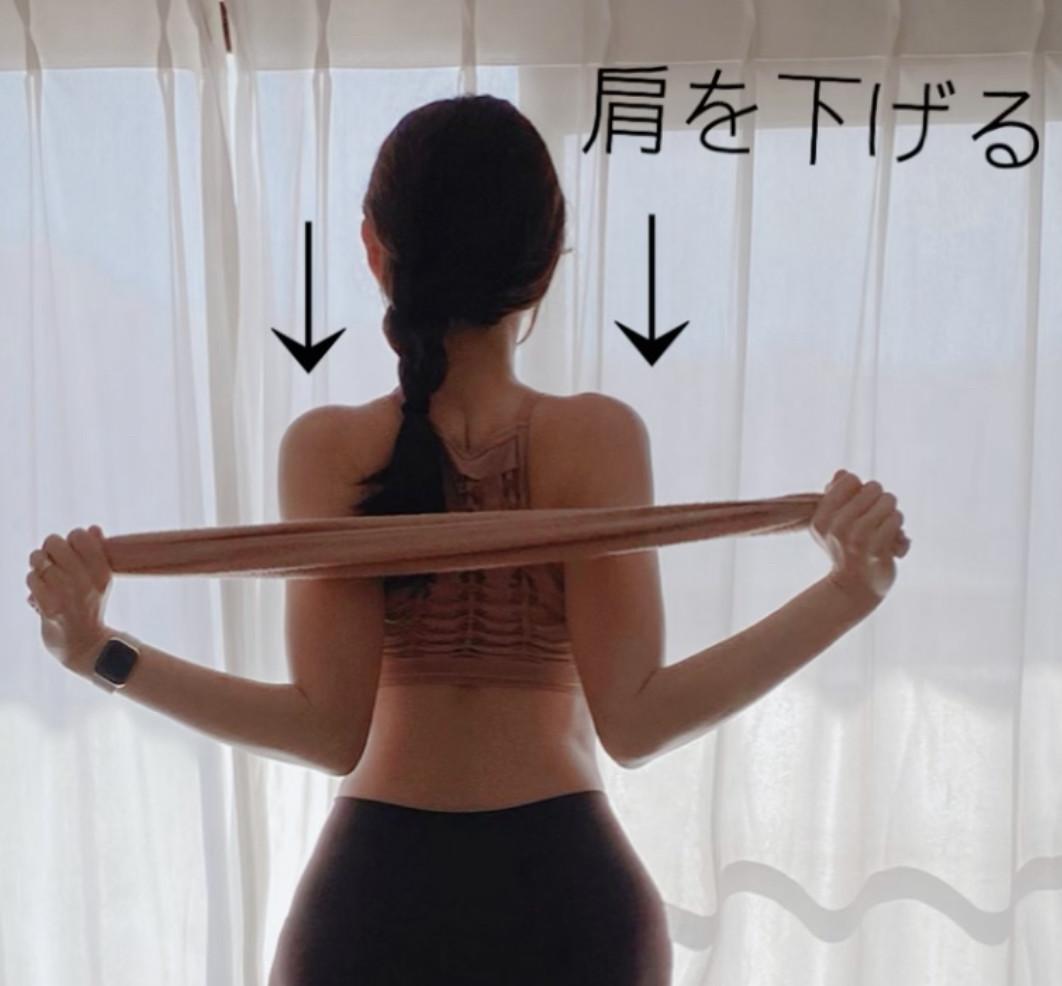 【簡単ストレッチ&トレーニング】タオル1枚で肩こり解消!美姿勢、美背中に♡_1_1