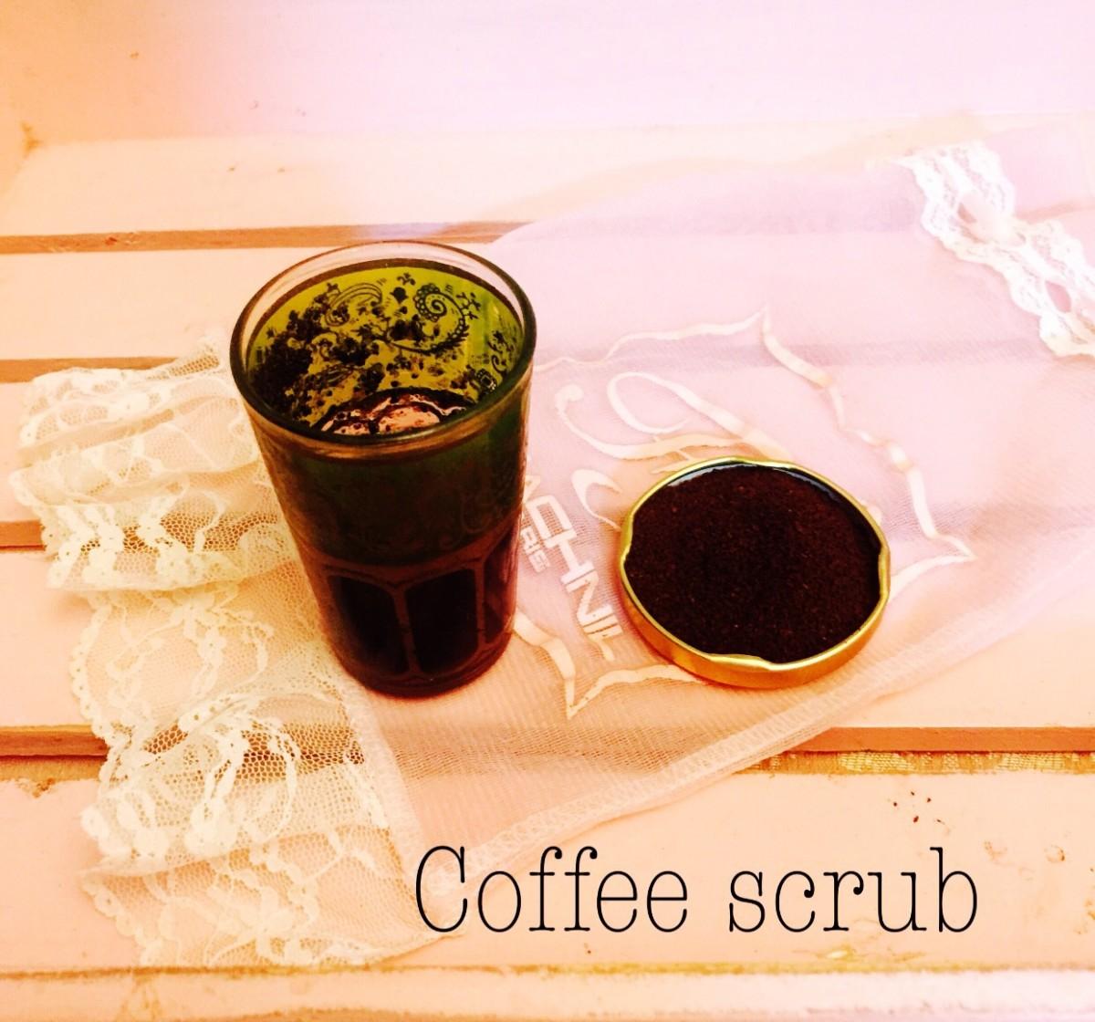 【レシピ付き】自家製コーヒースクラブ♡お風呂で簡単美容!リップスクラブにも使えます♪