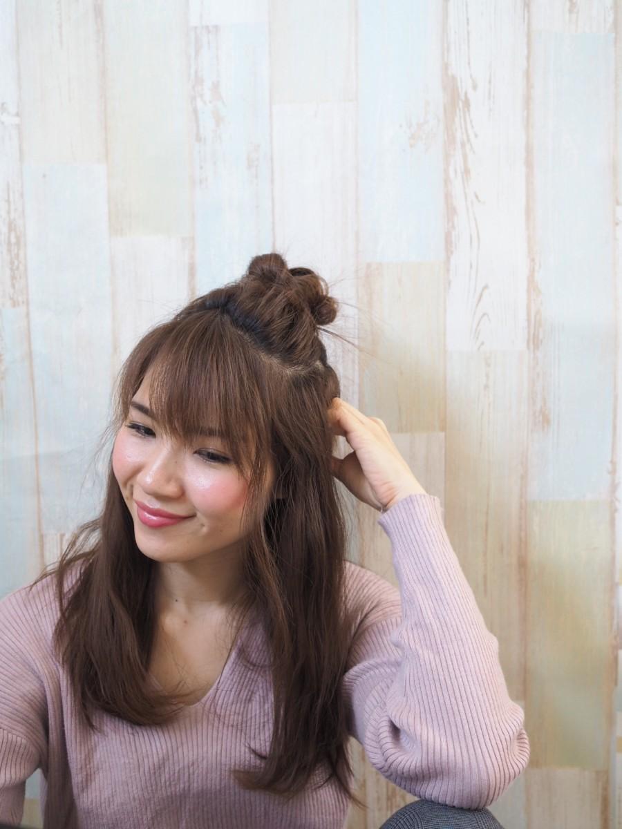 【動画あり】春は海外セレブにも人気の「Hun」ヘア♫ モコモコお団子で可愛いを演出