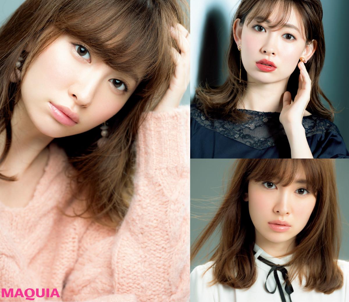 甘め美人顔の小嶋陽菜さんは赤みブラウンがお似合い! 陰影でつくる3つの小悪魔EYE