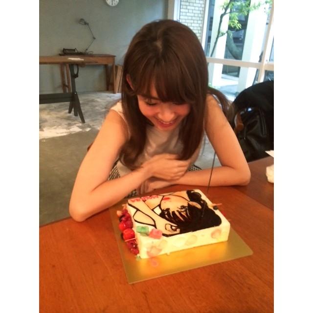 自分の顔がイラストになったケーキってはじめて!