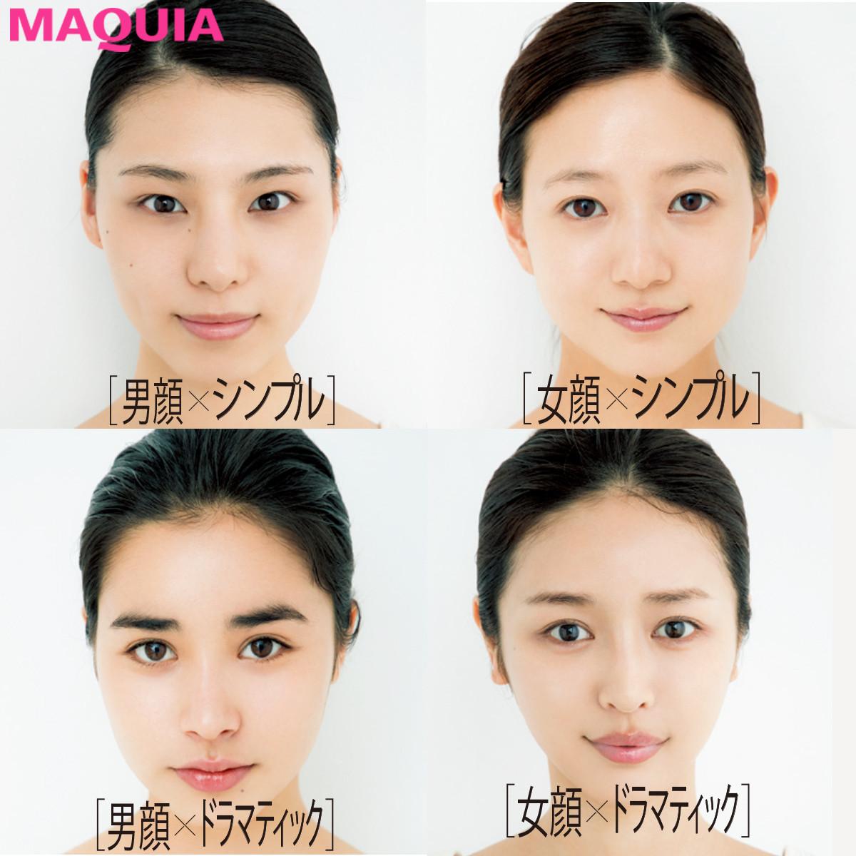 まずは顔立ちをセルフチェック! 4タイプ別・似合うEYE&LIPレシピ