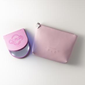 コスメティックミラーセット ピンク