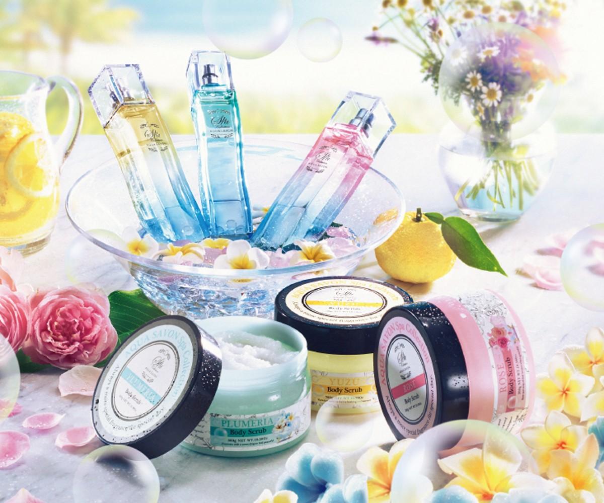シャボン+ボタニカルの優雅な香り♪ 「アクア シャボン スパコレクション」のボディスクラブで、贅沢バスタイムを!