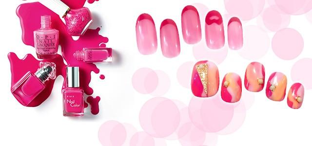 2017年のラッキーカラーはピンク! 運気を引き込むといわれる指先にピンクのネイルを。