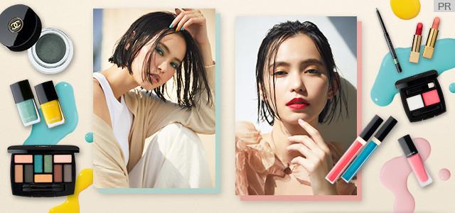 温かみのある色彩に目を奪われる、CHANELの春夏カラーコレクションで未知の表情を引き出して