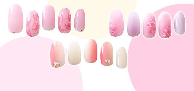 指先にも春がきた! 桜色が主役のネイルアートをお届け。「チェリーピンクネイル」