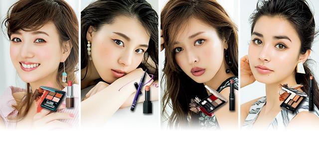 千吉良恵子さんが、4つの顔タイプ別に似合うアイ&リップをレクチャー