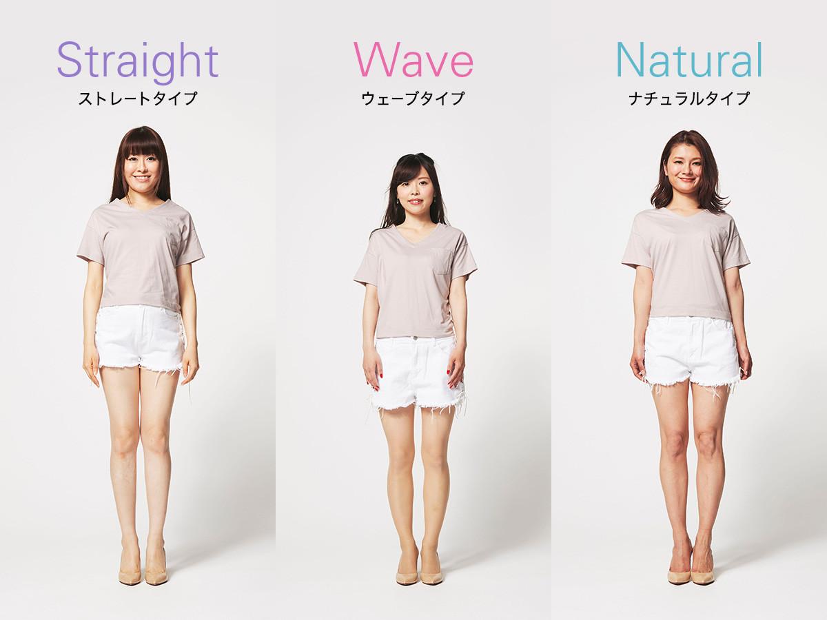 Straight ストレートタイプ Wave ウェーブタイプ Natural ナチュラルタイプ