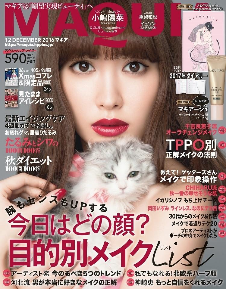 マキア12月号の表紙は小嶋陽菜さん!