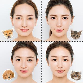 顔型4タイプ別余白埋め小顔メイク