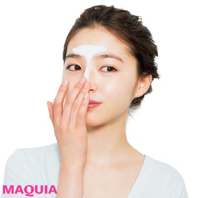 うるおいを残すタイプの洗顔フォームで、 Tゾーンから洗う