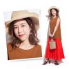 【ユニクロ・GUコーデ×似合うヘアアレンジ】ビーチリゾートでは、大人リッチ配色コーデにリラクシーカールヘアを合わせて
