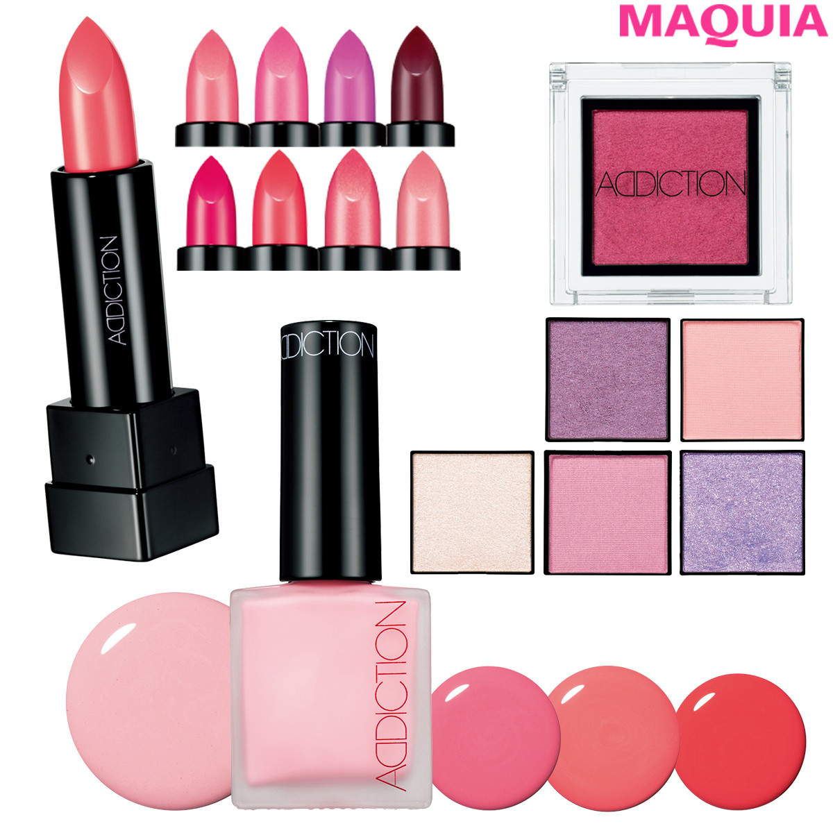 ピンクの魅力があふれる!アディクションの春新色でモードなおしゃれ顔に