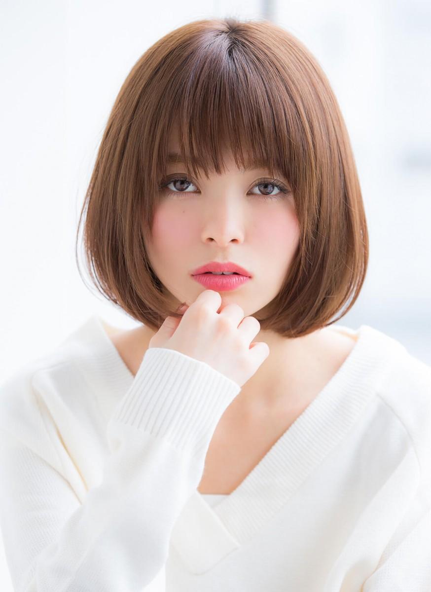 重×軽ミックスがシンプル可愛い♡ 上品フェミニンなバルーンボブ