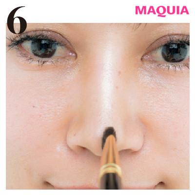 角鼻の存在感が、見違えるほど薄く! 基本の忘れ鼻メイクをレクチャー_1_6