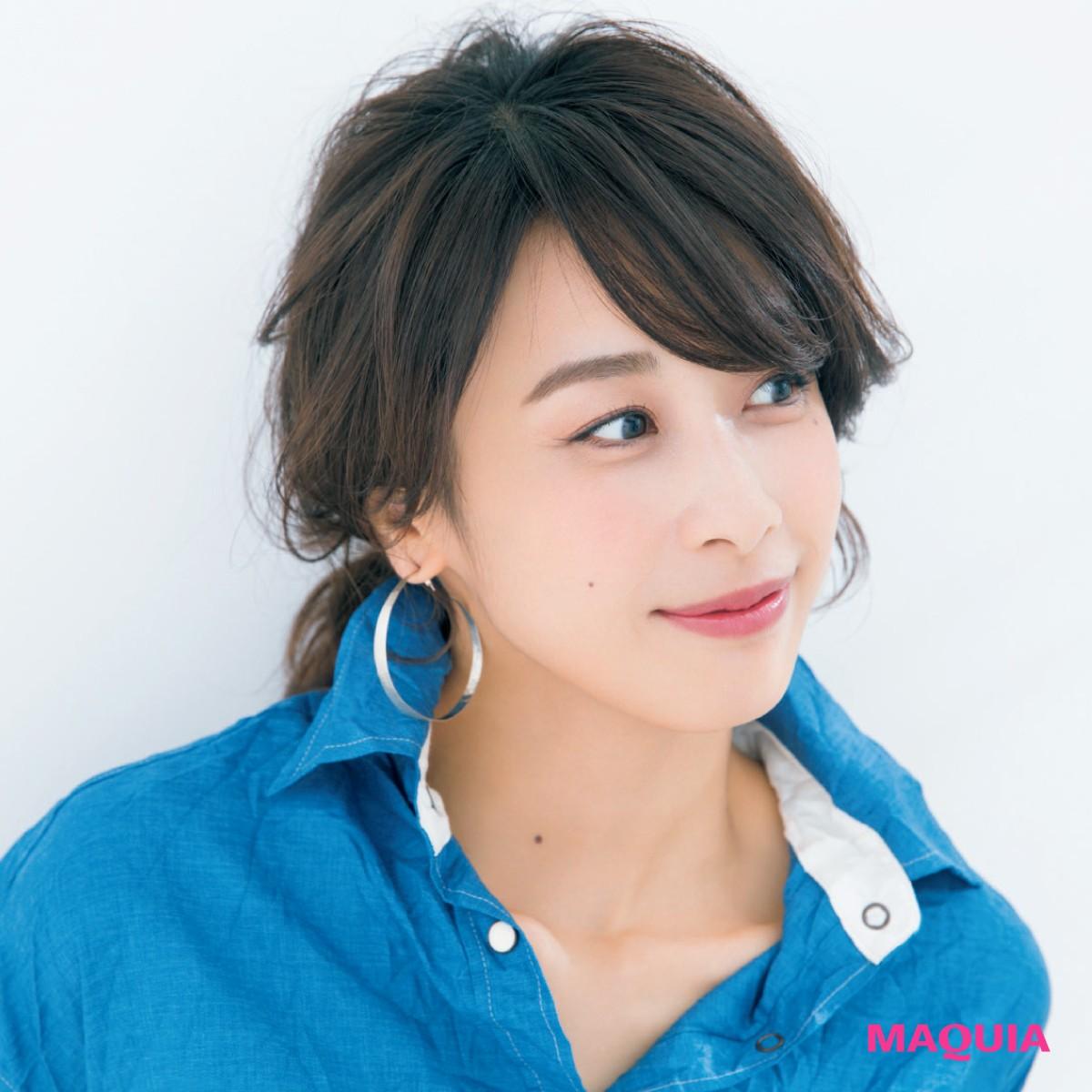 加藤綾子さんのひとつ結びアレンジ