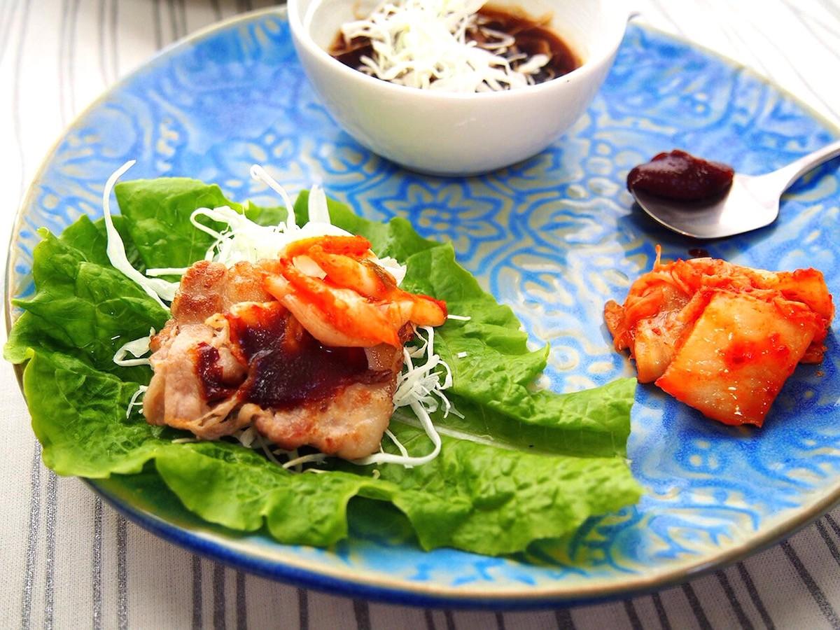 薄切り豚肉とキャベツで「おうちで簡単サムギョプサル」♪