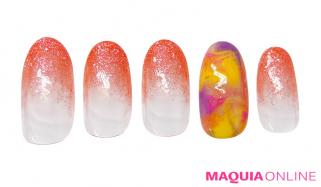 ポップでカラフル、極彩色の「マーブル」ネイルで、夏を満喫!