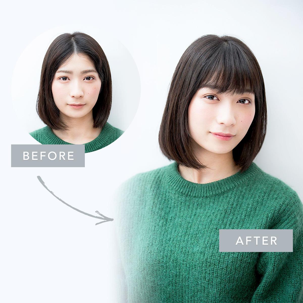 前髪の割れグセを解消! コテ無しでふんわり前髪をつくるブローテク