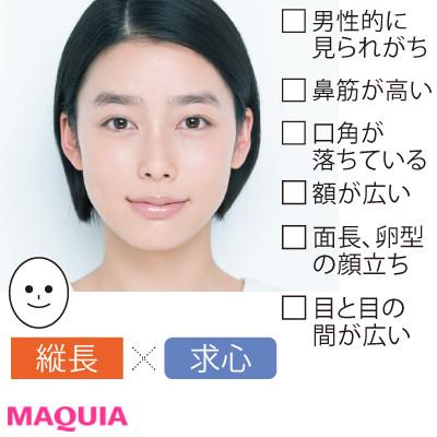 """あなたの顔タイプを診断! 小田切ヒロさんの""""小顔メイク""""は、光と影を操るのが必勝セオリー_1_3"""