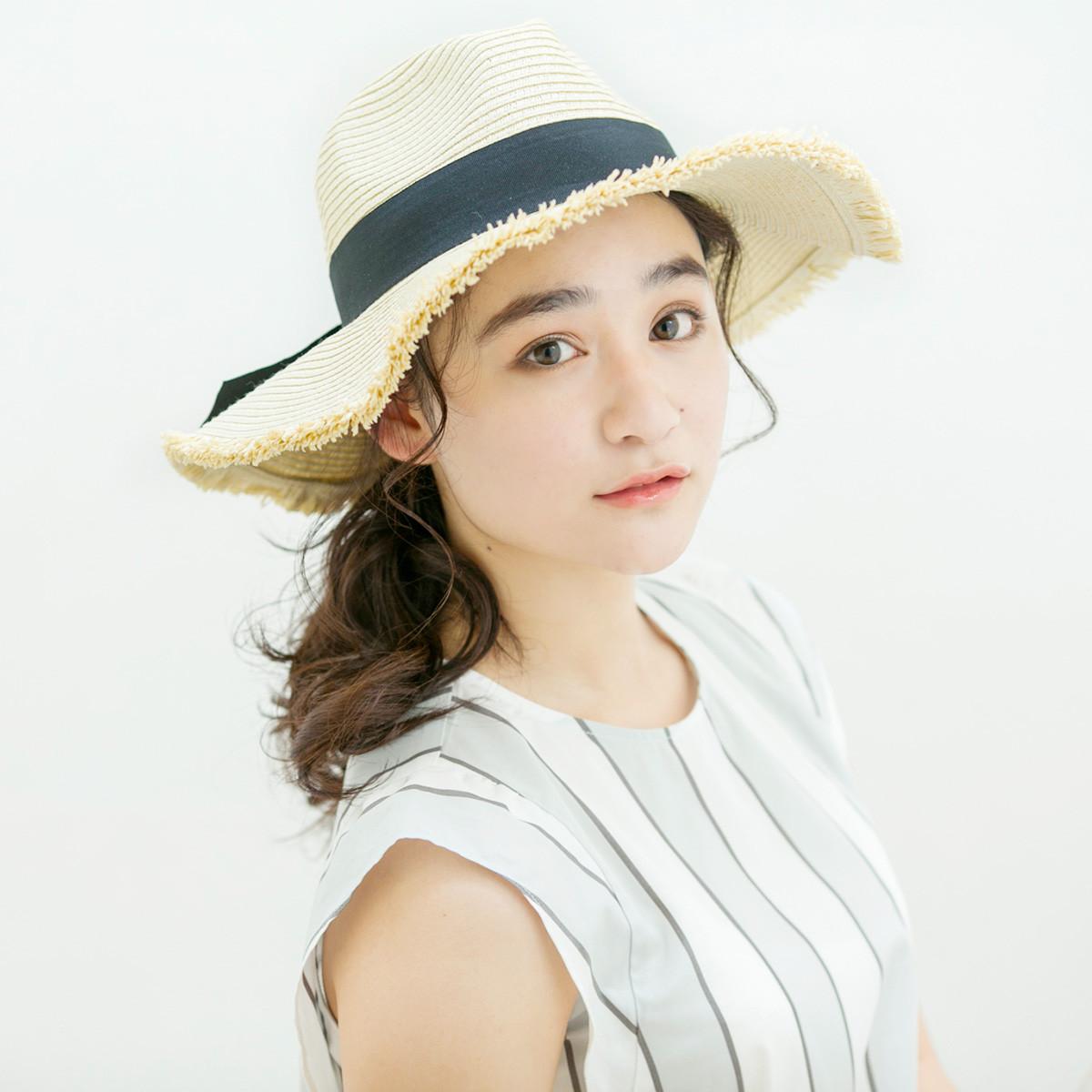 帽子アレンジ