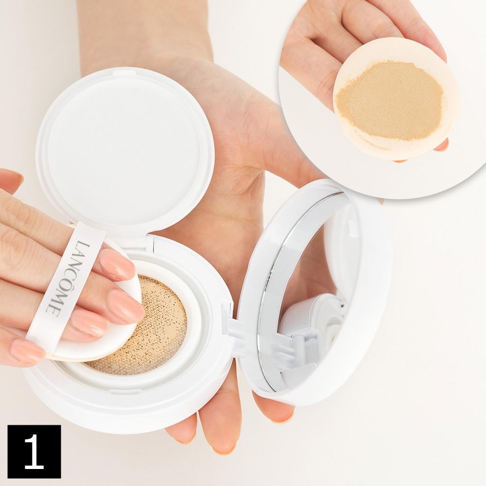 ぷるんとみずみずしいツヤ肌を作る、クッションファンデーションの簡単3ステップ_1_1