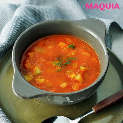 撮影が続くときはむくみ防止に 塩分控えめの作り置きスープを