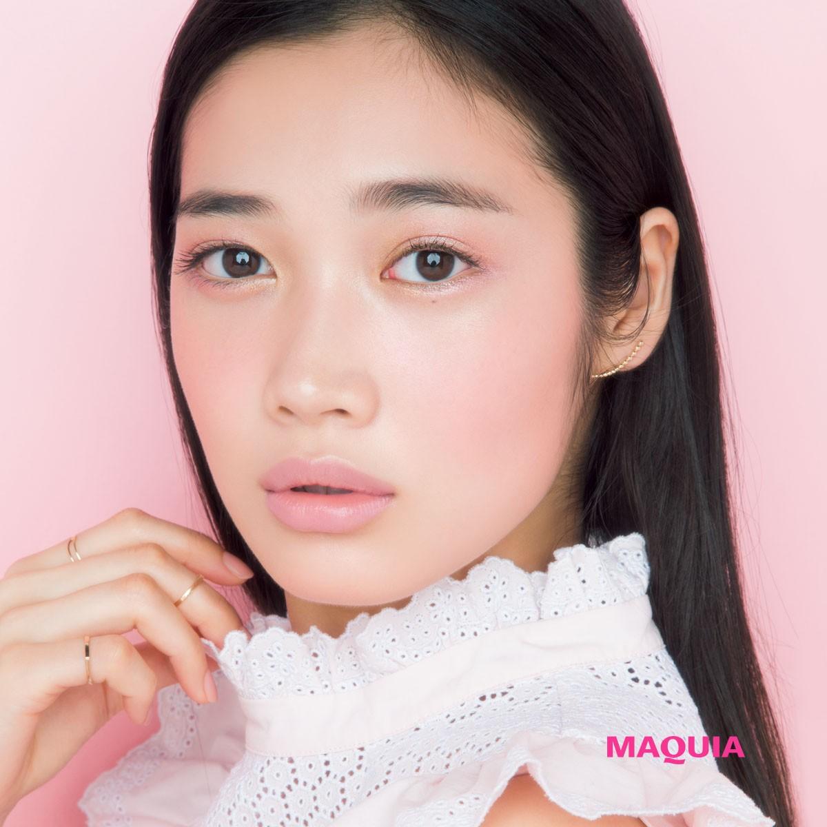 大人のためのピンクメイク♡  遊びのイエロー&質感チェンジがアカ抜けポイント!