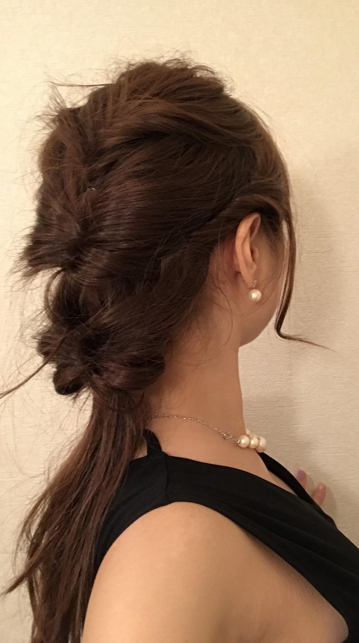 友人の結婚式♡ヘアアレンジ