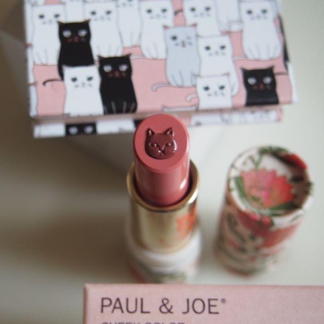 8/1限定発売◆ PAUL & JOE BEAUTEから限定発売の猫リップ♡二色が混ざり合って使い続けても猫ちゃんは消えなくて良かった!リップの容器も着せ替えが出来て選ぶ楽しみが♡