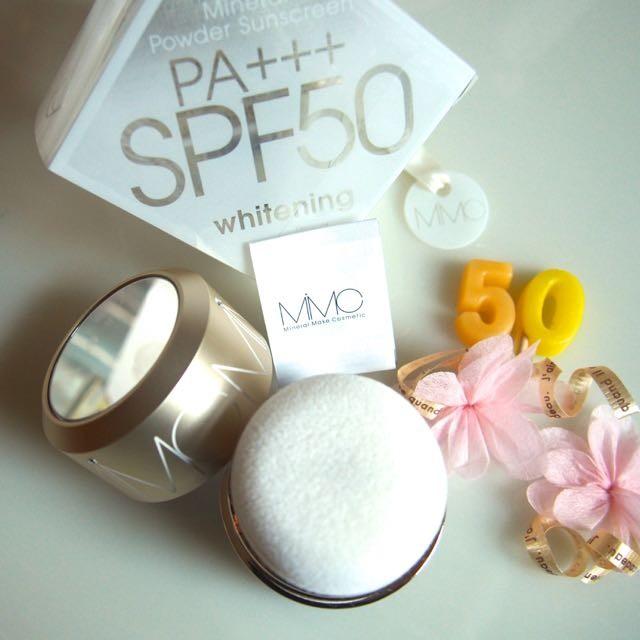 派手な宣伝なしに周囲に愛用者が多い美容液パウダーの日やけ止め◆MiMC「 ナチュラルホワイトニングミネラルパウダーサンスクリーン SPF50 PA+++