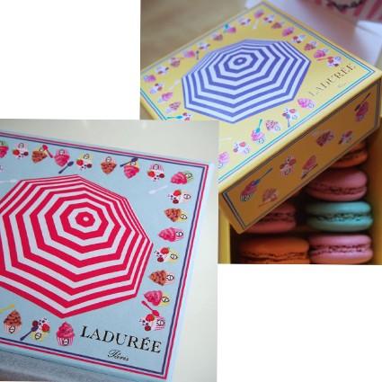 ラデュレからパラソルとアイスクリームの柄の限定マカロンボックスが7/3に発売!