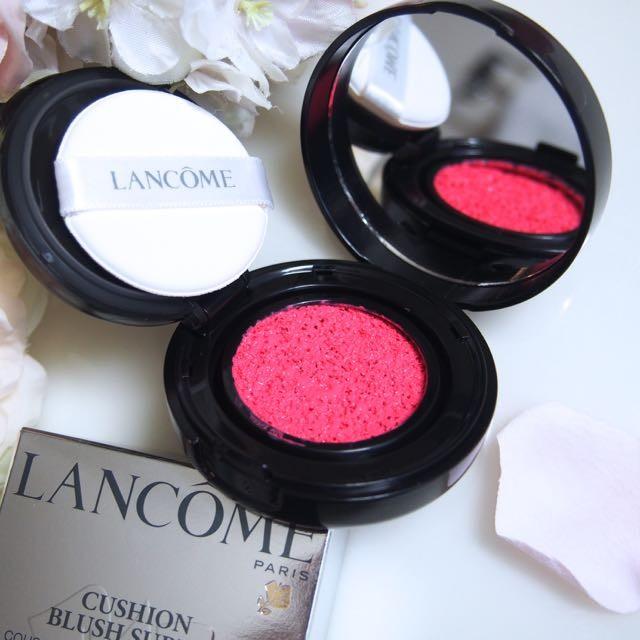 ランコム◆クッションタイプのリキッドチーク「クッションブラッシュ スプティル(チーク)」つやっぽい生肌と内側からにじみ出るようなバラ色の血色感が簡単に♡2016.2.17新発売