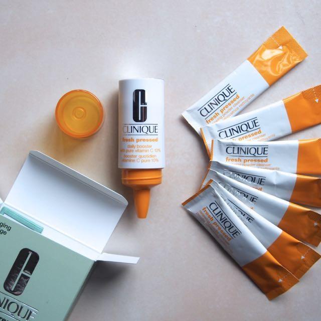 美容液も鮮度の時代。クリニークの一週間ずつ作る高濃度ビタミンCのブースター美容液と洗顔1分パックでお肌イキイキ!