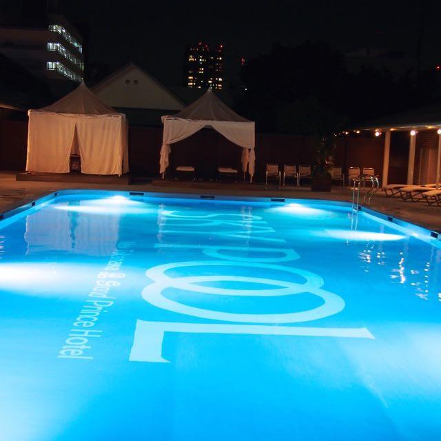 駅からすぐ都心のナイトプール最高◆プールサイドカバナでオールハンドマッサージ@グランドプリンスホテル新高輪
