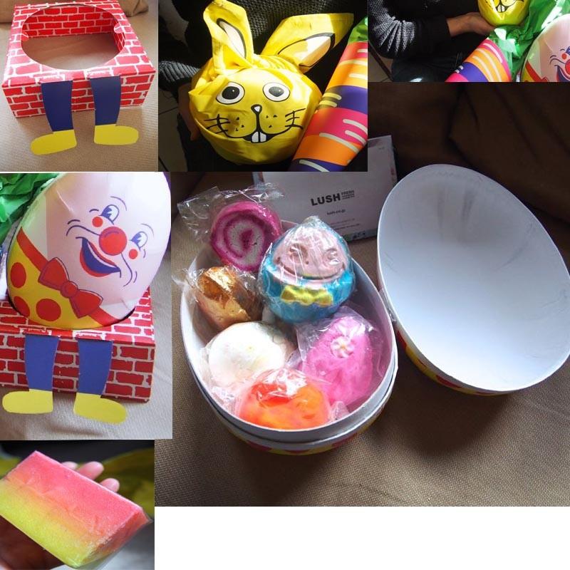 たまごを割ってサプライズ!春色が飛び出すLUSHのイースターギフト たまご・にんじん・バニーで春のお祝い♡バニーは包装が風呂敷「KNOT WRAP」また使える!