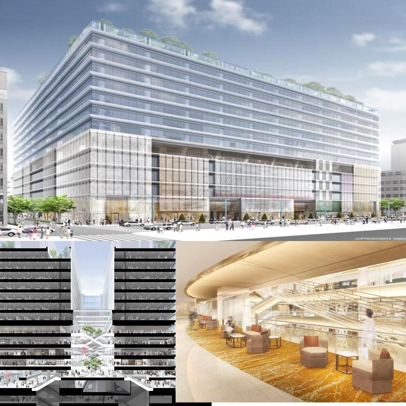 2017年4月開業予定の銀座松坂屋跡地はこんな風になる!延床面積約 46,000 m²で銀座エリア最大級の規模、ルイ・ヴィトン セルフリッジ店の建物デザインで受賞歴のあるグエナエル ニコラ氏が上質空間をデザイン。