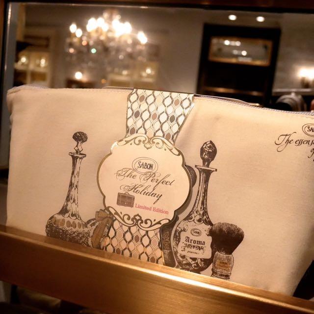 SABON◆GINZA SIX店限定コフレ「Travel Bag Perfect Holiday Green Rose」4/20限定発売。フレッシュなシトラスとグリーンローズの香り。