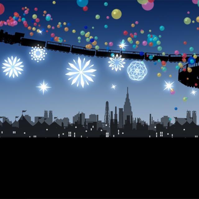 この冬必見◆東京駅八重洲口グランルーフのインスタレーション◆立った人の影がシルエットに映し出される「Light on Train」2016 年 12/1〜12/25開催