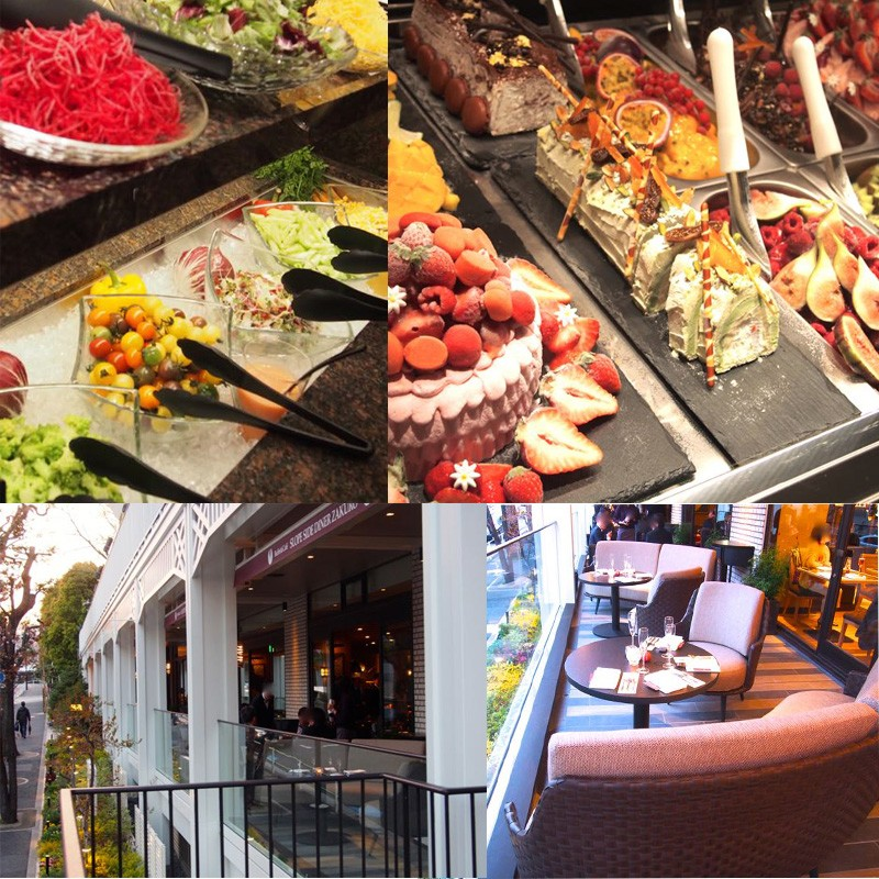 4/14開業!ホテルビュッフェにテラス席。グランドプリンスホテル新高輪 「Buffet&Café SLOPE SIDE DINER ZAKURO」夕暮れ時最高。