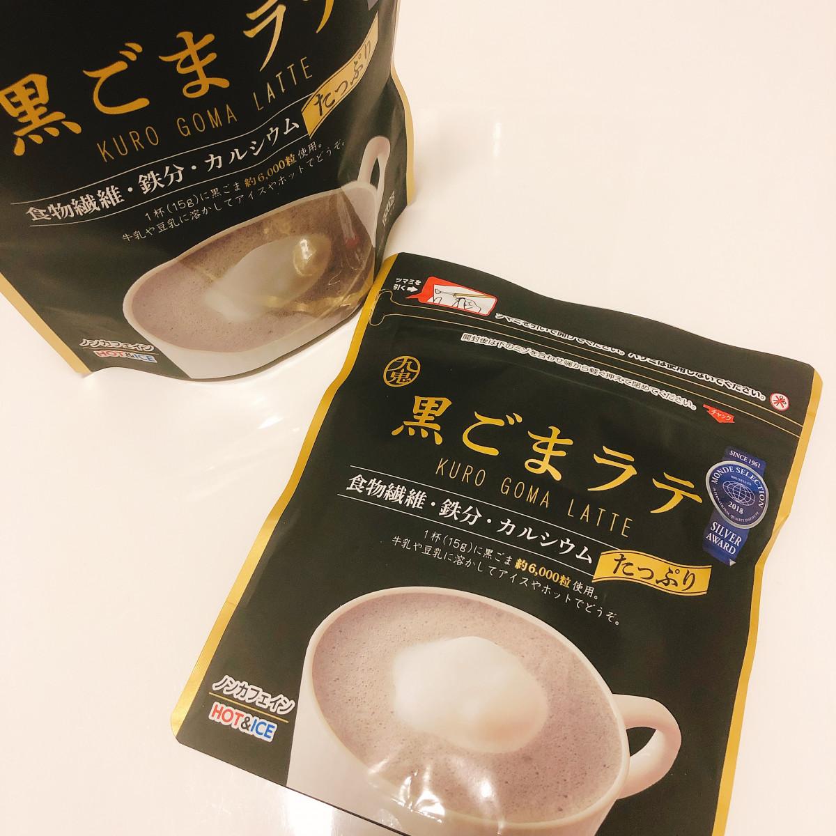 【黒ごまラテ】食物繊維・鉄分・カルシウムたっぷりの美味しいノンカフェインラテ☆