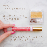 【キャンメイク春の新作】イエローチークはどう使う!?キャンディラップリッチカラーの限定色、ピーチレモネードもおすすめ♩