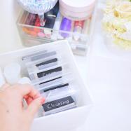【コスメ収納】いつの間にか溜まってしまう化粧品サンプル。簡単で可愛い収納方法のご紹介♩