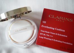 <クラランス>1月19日発売の新製品をお試し!!クッションファンデーション&アイライナー