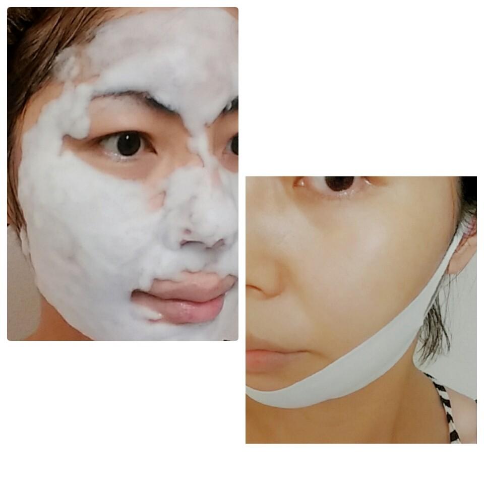 簡単!混ぜなくて良い一剤式炭酸パック&フェイスライン専用マスク